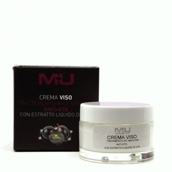 Crema viso antimacchia con estratto di liquido di uva MU Makeup