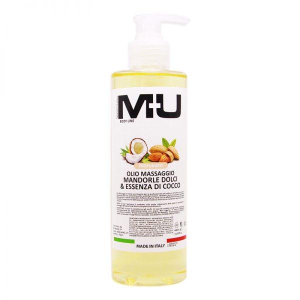 Olio per massaggio mandorle dolci e essenza di cocco MU Makeup