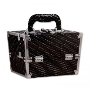 Beauty case rigido con strass