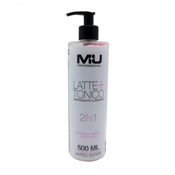 Latte + tonico energizzante viso e occhi rosa