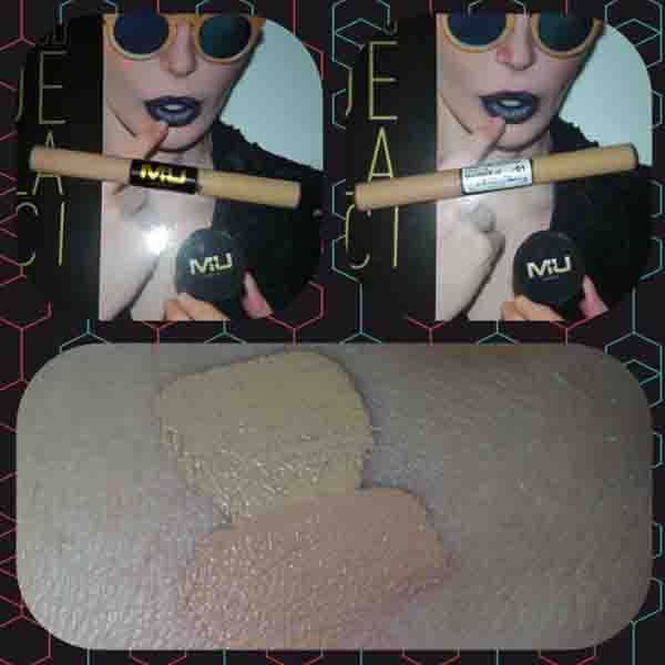 Swatch correttore liquido duo mu make up