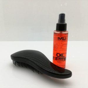 kit olio capelli+spazzola districante