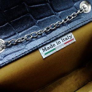 Pochette classica elegante con catena in vera pelle