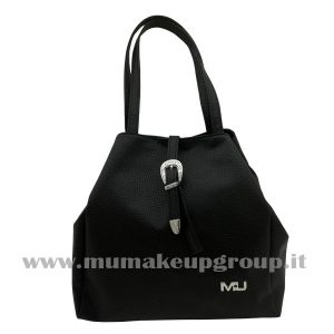 Borsa a mano in ecopelle a sacchetto mu make up