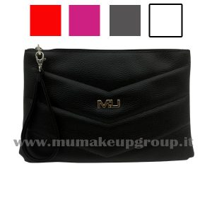 pochette in ecopelle a V Mu Make Up