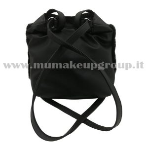 Borsa-zaino con pelliccia mu make up