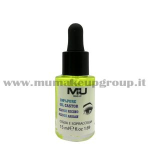 oil castor ricino argan 15 ml mu make up