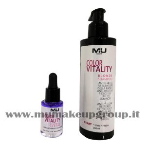 kit 2 pezzi color vitality shampo + siero mu make up