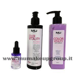 kit 3 pezzi color vitality shampoo + crema + siero