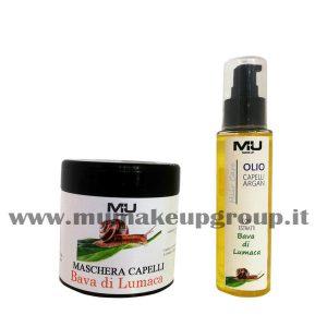 kit maschera capelli + olio capelli bava di lumaca