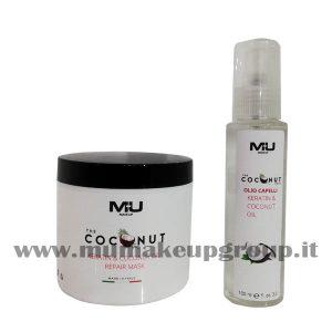 kit maschera capelli + olio capelli coconut