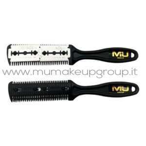 Pettine con rasoio per capelli e barba Mu Make Up