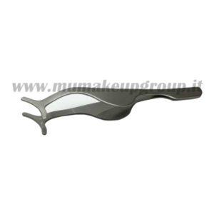 pinzetta per applicazione ciglia finte in metallo