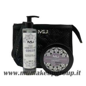 kit pochette retina + olio abbronzante + unguento 200 ml