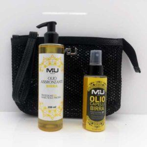 promo pochette retina + olio capelli solare + olio abbronzante