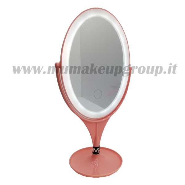 specchio beauty luminoso rosa
