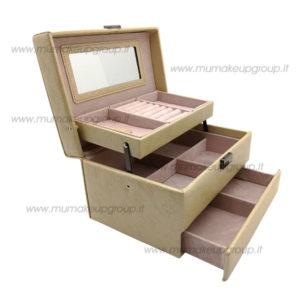 Beauty case in ecopelle 3 ripiani