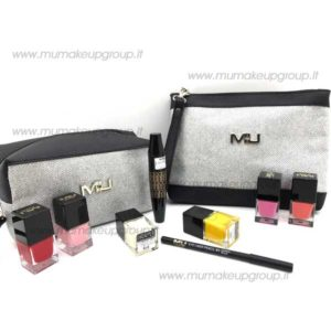 kit borsello pocket grande o pochette glitter + mascara orgasmo + matita + smalto