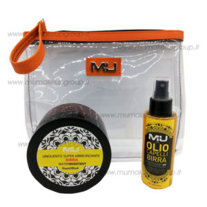 Kit unguento + olio capelli + pochette