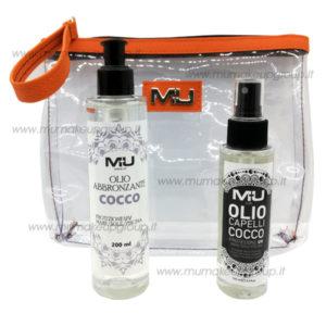 kit mare olio corpo + olio capelli + pochette