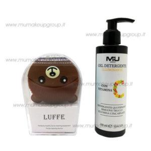 promo massaggiatore viso orsetto + gel detergente illuminante vitamina c