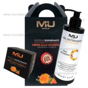 kit box con crema calendula e gel detergente vitamina C
