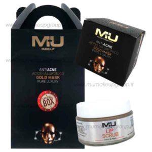 kit box gold mask e lip scrub labbra