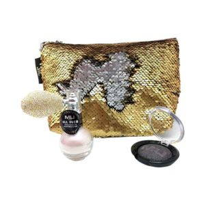 kit glamour star con polvere illuminante in pompetta e ombretto cotto