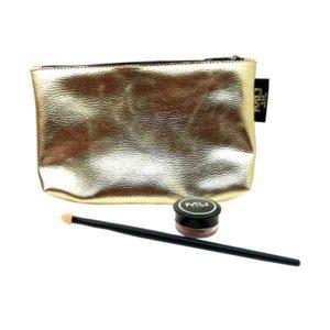 kit metal glow con ombretto in crema e pennellino con spugnetta