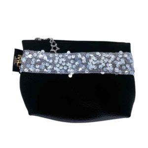 pochette piccola glamour con fascia paillettes