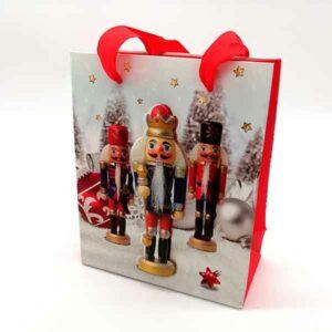 Busta regalo Natale schiaccianoci 3D