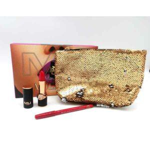 kit borsello girabrilla con rossetto look e matita labbra