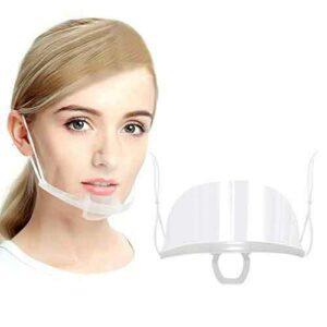 mascherina protettiva trasparente