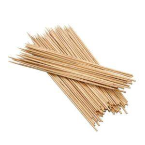 bastoncini per spiedini e zucchero filato in bambù 35 cm