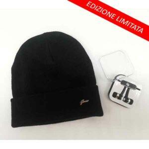 Cappello donna nero con cuffie Gianmarco Venturi