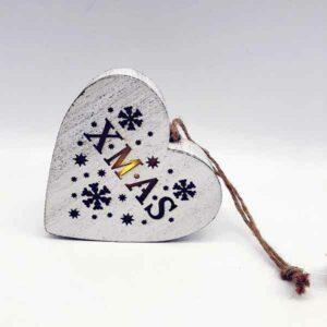 cuore luminoso xmas di legno stile shabby
