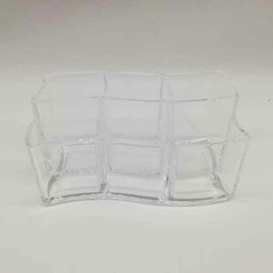 porta trucchi in plexiglass onda 19 x 11 cm