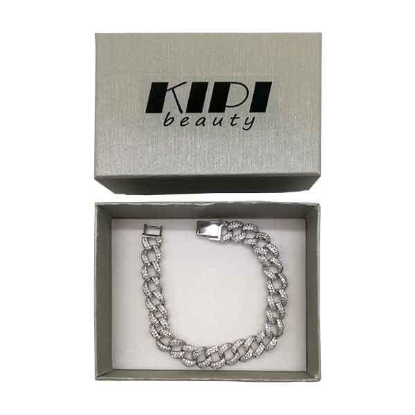 bracciale-catena-cubano-con-brillantini-kipi-silver