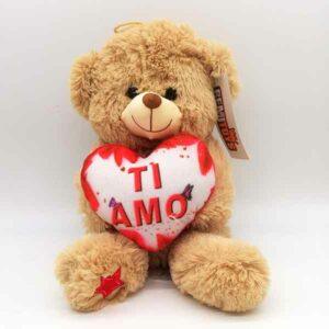 orsetto beige con cuore 30 cm