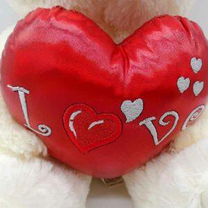 orsetto grande peluche con cuore lucido 35 cm
