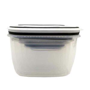 set 5 contenitori con coperchio per microonde
