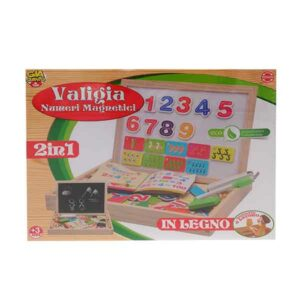 valigetta numeri magnetici 2 in 1 in legno