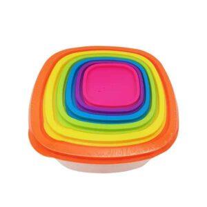 contenitori colorati in plastica 6 pezzi