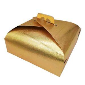 Cartone porta torta dorato 29 x 29