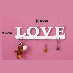Porta chiavi da parete in legno love