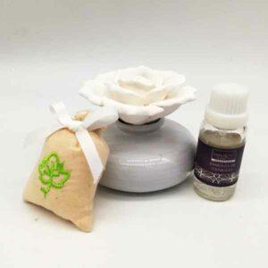 confezione diffusore essenza in ceramica