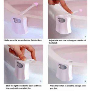 Luce led per water con sensore di presenza