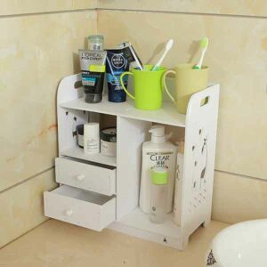 Porta cosmetici e profumi in legno bianco