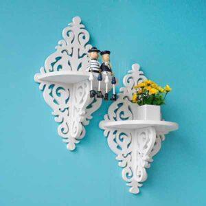 Mensola rombo shabby ornamentale