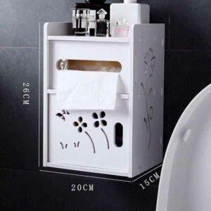 mobiletto da parete con dispenser rotolo